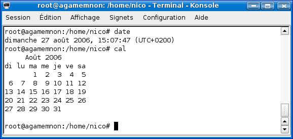 Cours de TSSRI sur Linux Datecal