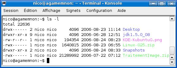 Cours de TSSRI sur Linux Ls-l