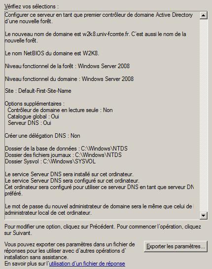 windows 2008   installation de active directory et du r u00f4le  u0026quot contr u00f4leur de domaine u0026quot