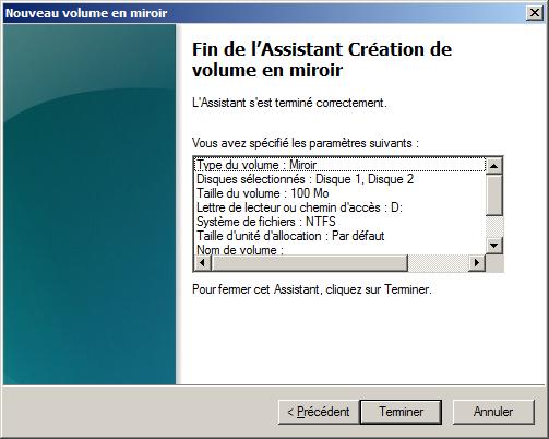 Windows 2008 administration gestion des disques for Disque en miroir